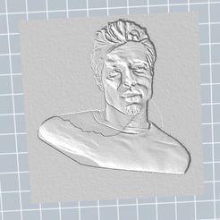 Télécharger fichier 3D gratuit Brad Pitt, nicoco3D
