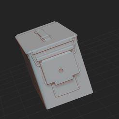 Descargar Modelos 3D para imprimir gratis caja de municiones, nicoco3D