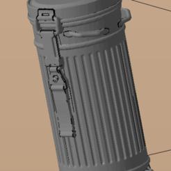 Descargar modelo 3D gratis caja de la máscara de gas, nicoco3D