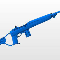 Download STL file M1 Carbine Paracomando, nicoco3D