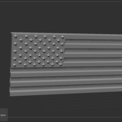 1.PNG Download STL file American Flag • 3D print template, NICOCO3D