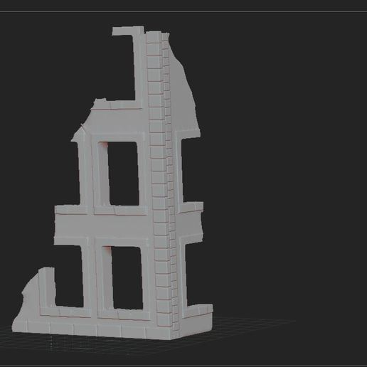 1.JPG Download free STL file ruined house • 3D printing design, nicoco3D