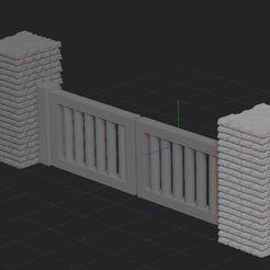 Descargar archivos STL muro y valla, nicoco3D