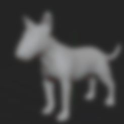 chien.stl Download STL file BULL TERRIER DOG V2 • Template to 3D print, nicoco3D