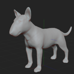 Download 3D print files BULL TERRIER DOG V2, nicoco3D