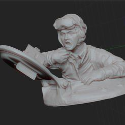 8.JPG Download OBJ file tank officer • 3D printer object, nicoco3D