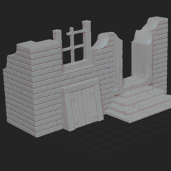 2.PNG Download free STL file ruined house • 3D printing design, nicoco3D