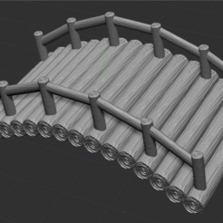 2.PNG Download free STL file wide wooden bridge • 3D printing model, NICOCO3D