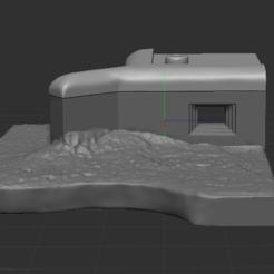 1.PNG Télécharger fichier STL gratuit bunker coupé • Plan imprimable en 3D, NICOCO3D