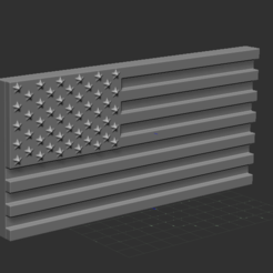 2.PNG Download free STL file American Flag • 3D print template, NICOCO3D