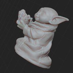 Imprimir en 3D gratis bebé yoda, nicoco3D