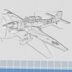 Descargar STL gratis Ju87 Stuka B2 Bombardero de buceo2 Socorro en 3D, nicoco3D