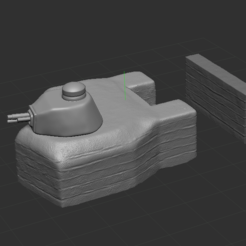 1.PNG Download free STL file Bunker with turret FT 17 • 3D printable model, NICOCO3D