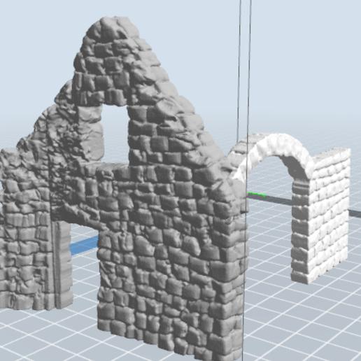 3.PNG Télécharger fichier STL gratuit Maison ruine • Plan imprimable en 3D, nicoco3D
