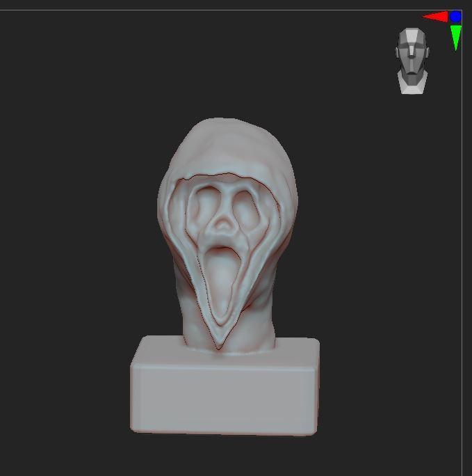 6.JPG Télécharger fichier OBJ gratuit Scream buste • Objet imprimable en 3D, nicoco3D