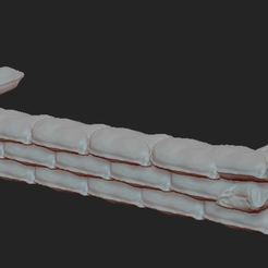 1.JPG Download free STL file military sandbag A2 • Template to 3D print, NICOCO3D