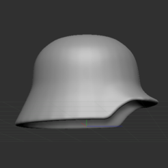 2.PNG Download free STL file German helmet • 3D printable template, nicoco3D