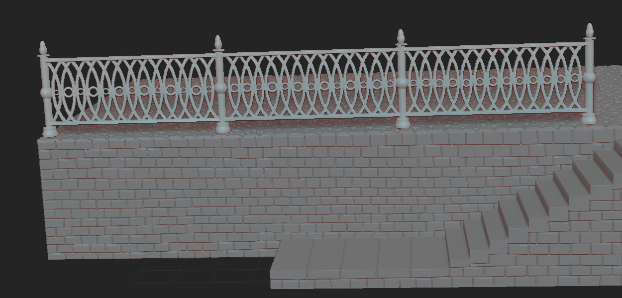 5.PNG Download free OBJ file diorama wall and fence • 3D printer model, NICOCO3D
