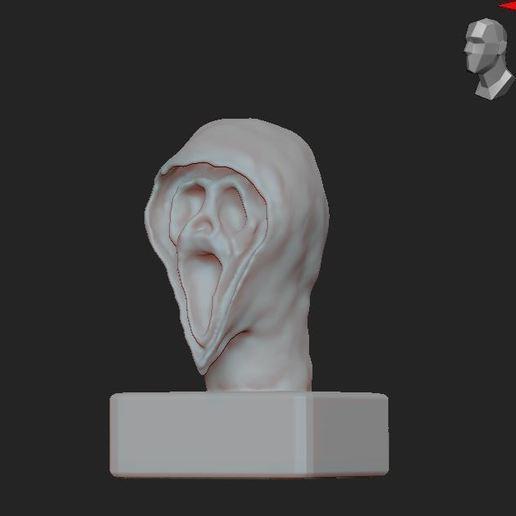5.JPG Télécharger fichier OBJ gratuit Scream buste • Objet imprimable en 3D, nicoco3D