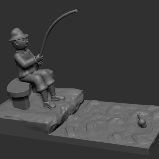 v2.JPG Download STL file fisherman • 3D printing object, NICOCO3D