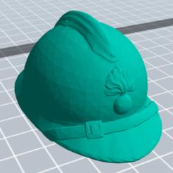 Descargar modelo 3D gratis Casco militar francés, nicoco3D