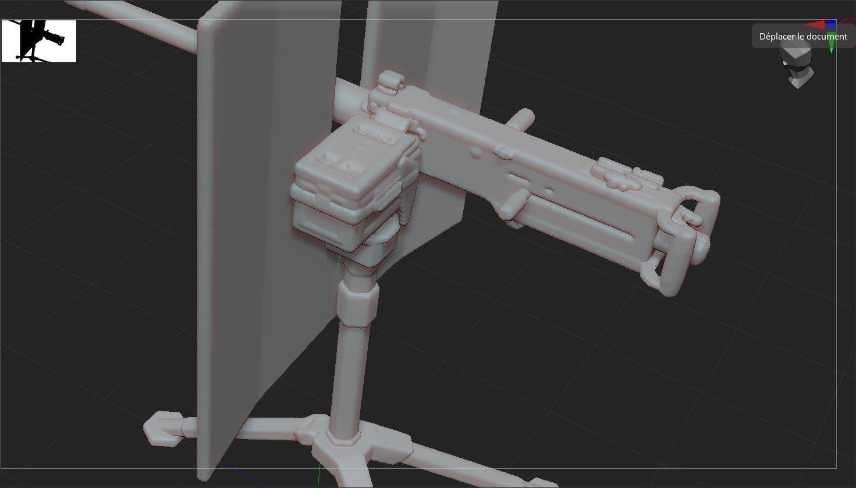 5.JPG Télécharger fichier STL gratuit mitrailleuse  • Modèle pour impression 3D, nicoco3D
