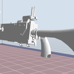Descargar modelo 3D Marrón M1919 A6, nicoco3D