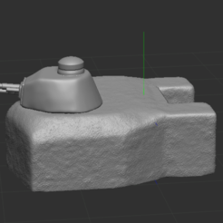 1.PNG Download STL file Bunker with turret FT 17 • 3D printable model, nicoco3D