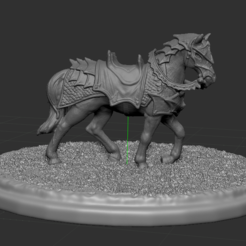 7.PNG Download STL file horse with base • Model to 3D print, NICOCO3D