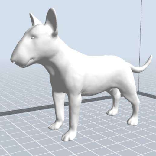 7.PNG Download STL file BULL TERRIER DOG V2 • Template to 3D print, nicoco3D