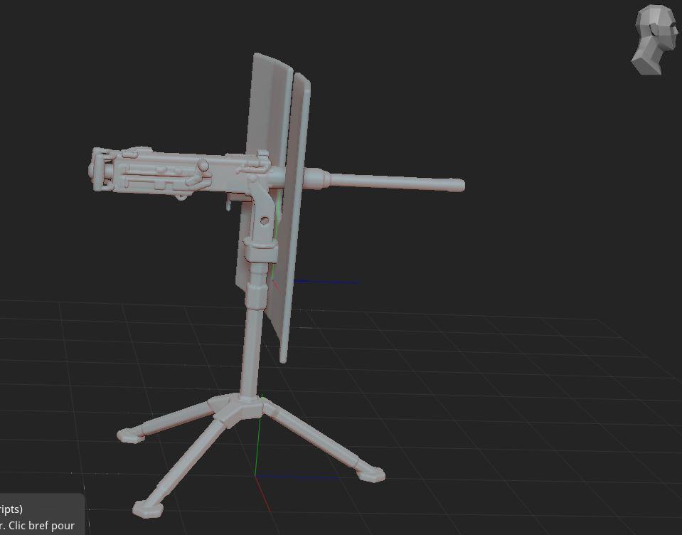 3.JPG Télécharger fichier STL gratuit mitrailleuse  • Modèle pour impression 3D, nicoco3D