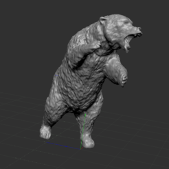 2.PNG Download free STL file bear • 3D print template, NICOCO3D