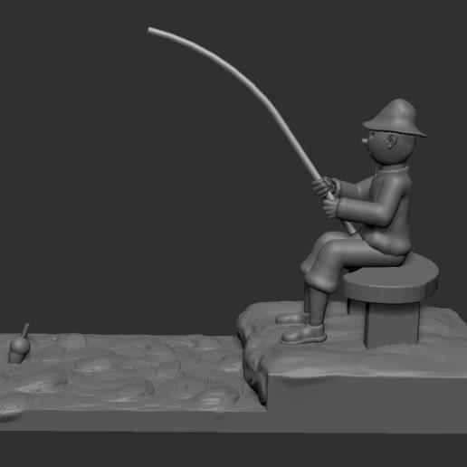 v4.JPG Download STL file fisherman • 3D printing object, NICOCO3D