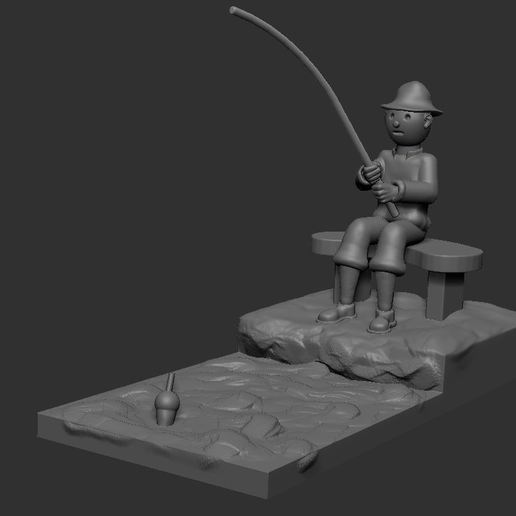 v1.JPG Download STL file fisherman • 3D printing object, NICOCO3D
