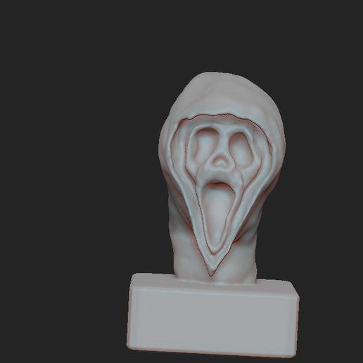 1.JPG Télécharger fichier OBJ gratuit Scream buste • Objet imprimable en 3D, nicoco3D