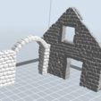 1.PNG Télécharger fichier STL gratuit Maison ruine • Plan imprimable en 3D, nicoco3D