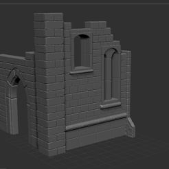 5.PNG Download free STL file ruined church • 3D printer object, NICOCO3D