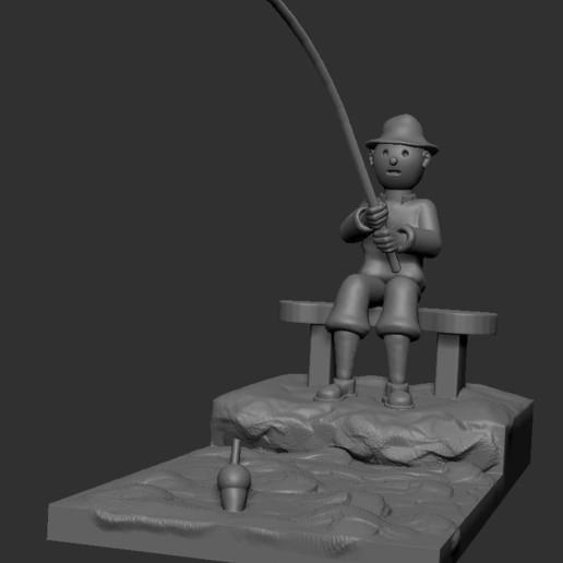 v5.JPG Download STL file fisherman • 3D printing object, NICOCO3D