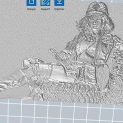 Télécharger fichier 3D gratuit cindy aurum relief en 3D, nicoco3D