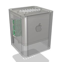pizap.com14930412759161.jpg Download free STL file Raspberry pi (Macintosh) G4 Cube Mini (Raspberry Pi 2 + 3 Case) • 3D print design, The_Craft_Dude