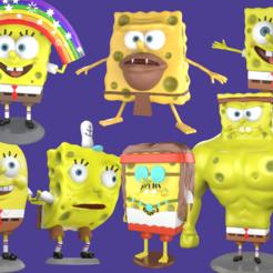 pORTADA.png Download STL file 7 Printable models Spongebob memes pack print • Template to 3D print, eqzx24