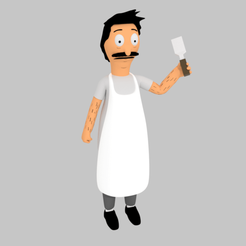 """01.png Télécharger fichier OBJ Bob Belcher """"Bob's Burgers"""" • Modèle à imprimer en 3D, eqzx24"""