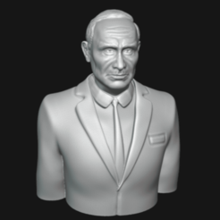 0001.png Download 3MF file Vladimir Putin Bust 3D printable model • 3D print object, eqzx24