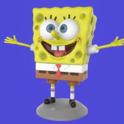 Portada2.png Télécharger fichier STL Bob l'éponge Sculpture joyeuse impression 3D • Design imprimable en 3D, eqzx24