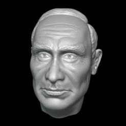 0001.png Download 3MF file Vladimir Putin Head detailed 3D printable • 3D print template, eqzx24