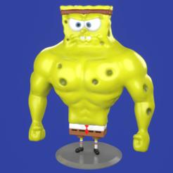 1.png Download STL file Muscle Spongebob meme sculpture 3D print • Object to 3D print, eqzx24