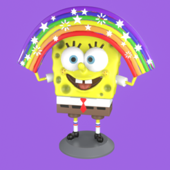 portada.png Télécharger fichier STL Bob l'éponge avec le modèle d'impression 3D Rainbow • Design pour impression 3D, eqzx24