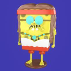 1.png Télécharger fichier STL Spongebob Hippie meme sculpture 3D print • Objet pour imprimante 3D, eqzx24