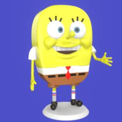 1.png Télécharger fichier STL Spongebob meme sculpture 3D print • Objet imprimable en 3D, eqzx24