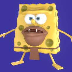 Portada.png Télécharger fichier STL Bob l'éponge Homme des cavernes mème sculpture art impression 3D • Objet pour impression 3D, eqzx24